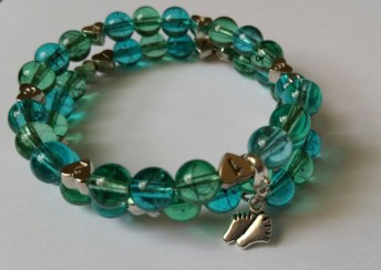 Blue & Green Breastfeeding Bracelet